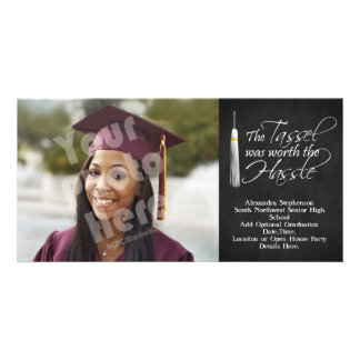 The Tassel Was Worth the Hassle Personalized Photo Card