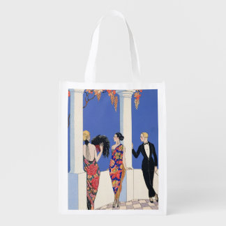 The Taste of Shawls, 1922 (pochoir print) Grocery Bag