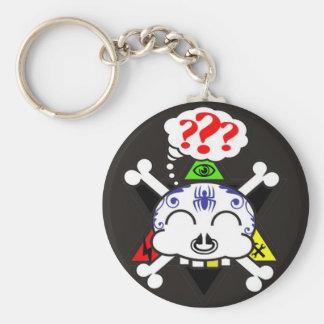 the tattood skully keychain