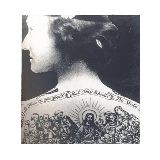 The tattooed flapper - love one another notepad