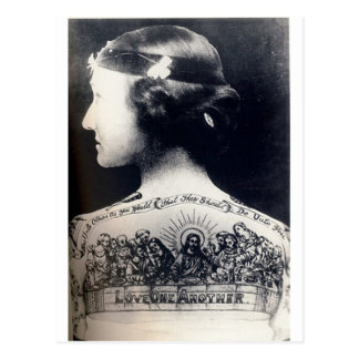 The tattooed flapper - love one another postcard