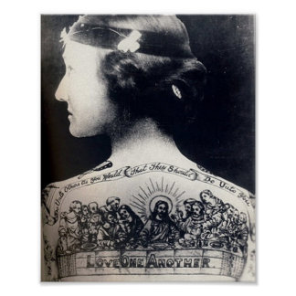 The tattooed flapper - love one another poster