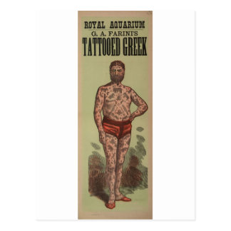 The Tattooed Greek Postcard