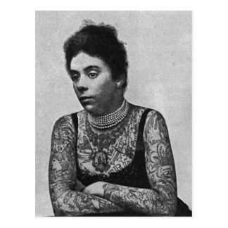 The Tattooed Mrs Williams Postcard