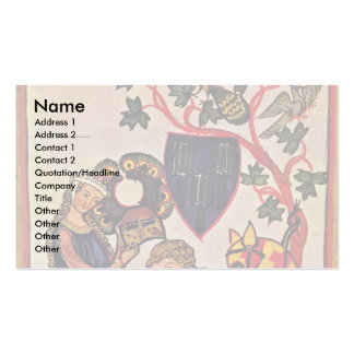 The Tavern Of Limburg By Meister Der Manessischen Double-Sided Standard Business Cards (Pack Of 100)