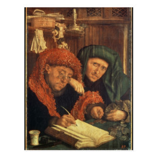 The Tax Collectors, 1550 Postcard
