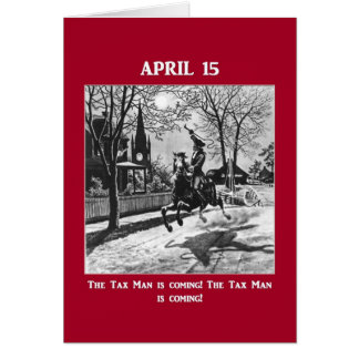 The Tax Man Is Coming! Card