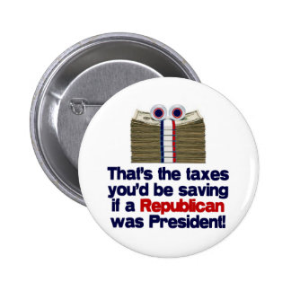 The Taxed You'd Be Saving 2 Inch Round Button