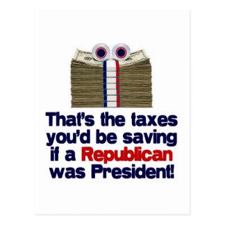 The Taxes You'd Save Postcard