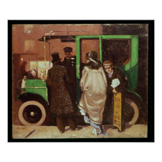 The Taxi Cab, c.1908-10 Poster