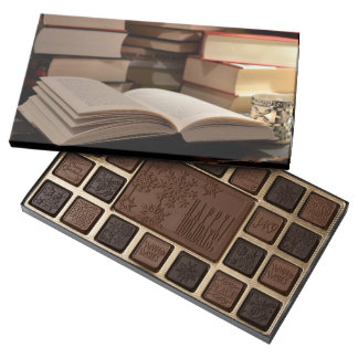 The TBR Book Stack 45 Piece Box Of Chocolates