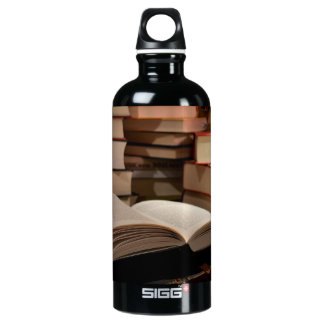 The TBR Book Stack Aluminum Water Bottle