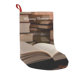 The TBR Book Stack Small Christmas Stocking