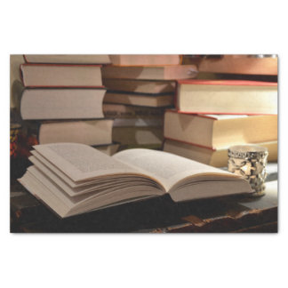 The TBR Book Stack Tissue Paper
