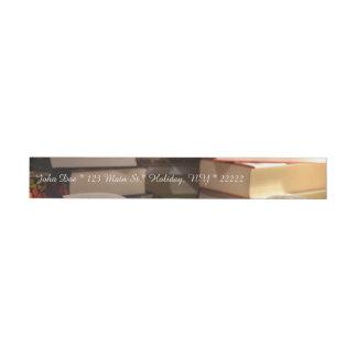The TBR Book Stack Wrap Around Address Label
