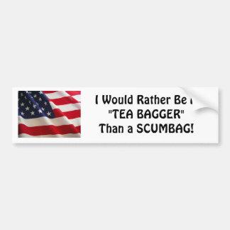 THE TEA BAGGER  WAR CRY! BUMPER STICKER