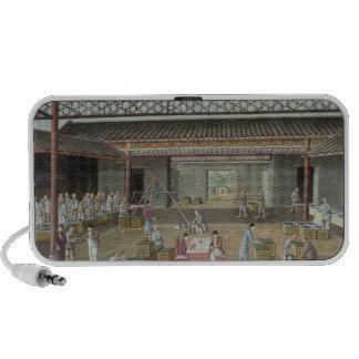 The Tea Depot (gouache on silk) iPhone Speaker