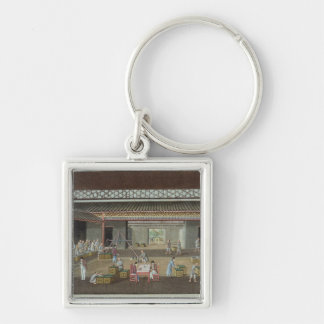 The Tea Depot (gouache on silk) Keychain