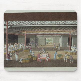 The Tea Depot (gouache on silk) Mouse Pad