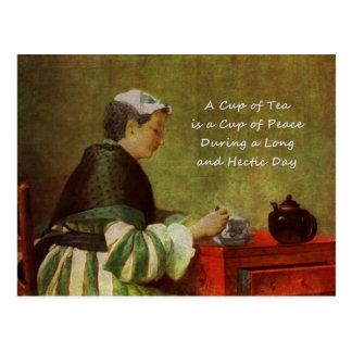 The Tea Drinker 1735 Postcard