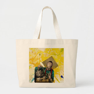 The Tea Man by Michael Moffa Large Tote Bag