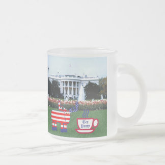 The Tea Party Eyes The White House Frosted Glass Coffee Mug