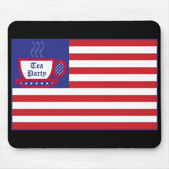 The Tea Party Flag Mouse Pad
