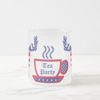 The Tea Party Frosted Glass Coffee Mug