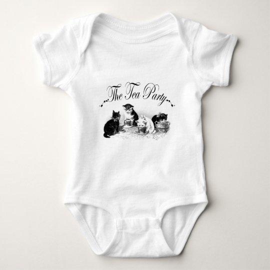 The Tea Party Kittens Baby Bodysuit