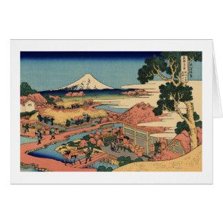 The Tea Plantation of Katakura in Suruga Card