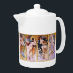 """The tea pot """"of Alphonse Mucha"""", No.02<br><div class=""""desc"""">I made this product for the person who likes """"Alphonse Mucha"""".</div>"""