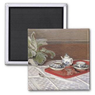The Tea Set by Claude Monet Fridge Magnet