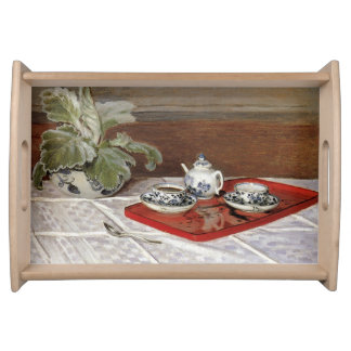 The Tea Set by Claude Monet Serving Tray