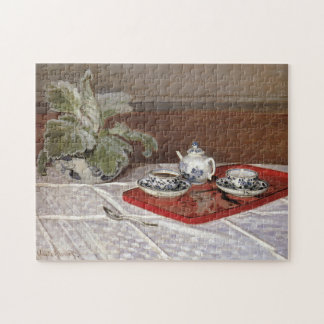 The Tea Set Monet Fine Art Jigsaw Puzzle