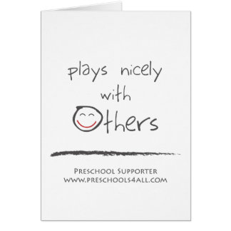 The Team Player - Abstract Greeting Cards