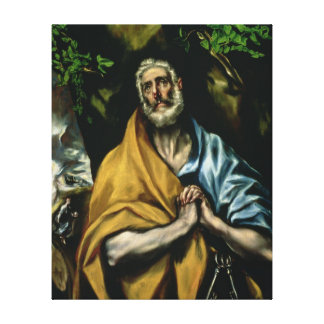 The Tears of St Peter, late 1580s Canvas Print