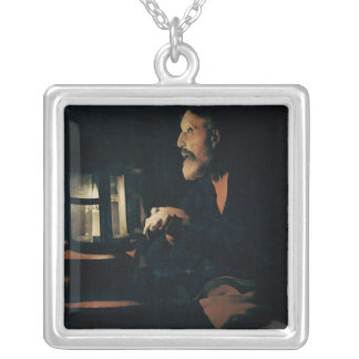 The Tears of St. Peter Square Pendant Necklace