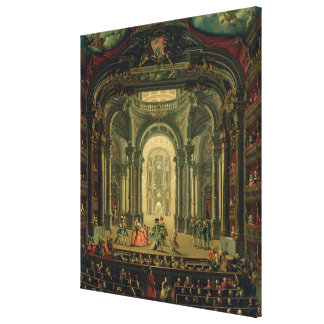 The Teatro Reale in Turin (oil on canvas) Canvas Print