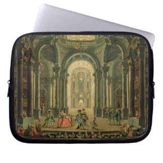 The Teatro Reale in Turin (oil on canvas) Computer Sleeve