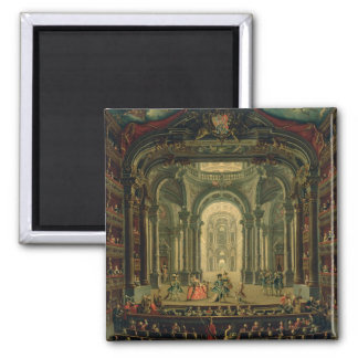 The Teatro Reale in Turin (oil on canvas) Magnet