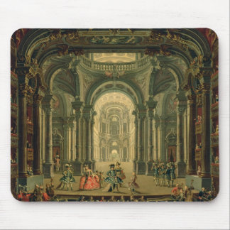 The Teatro Reale in Turin (oil on canvas) Mouse Pad