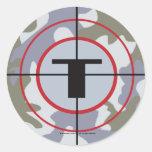 The Techno Tribe Logo Classic Round Sticker