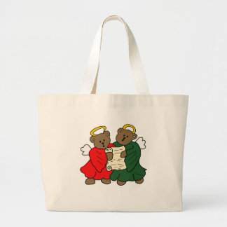 The Teddy Bear Angels Large Tote Bag
