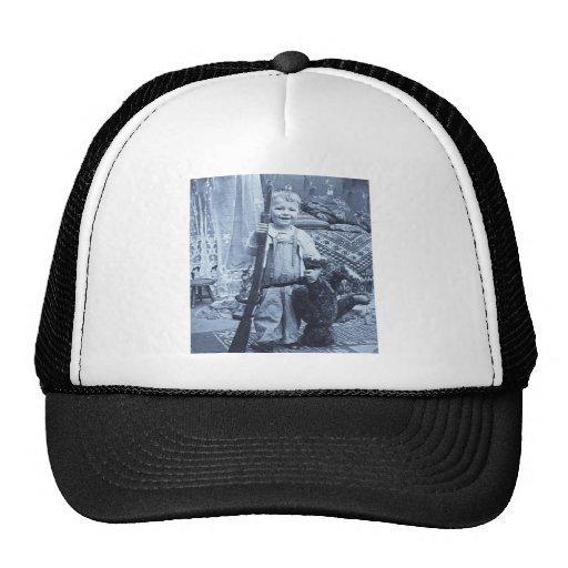 The Teddy Bear Hunter Vintage Stereoview Hat