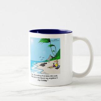 The Telecommuting Business Analyst # 1 Two-Tone Coffee Mug