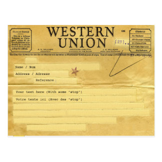 The telegram/the telegram postcard