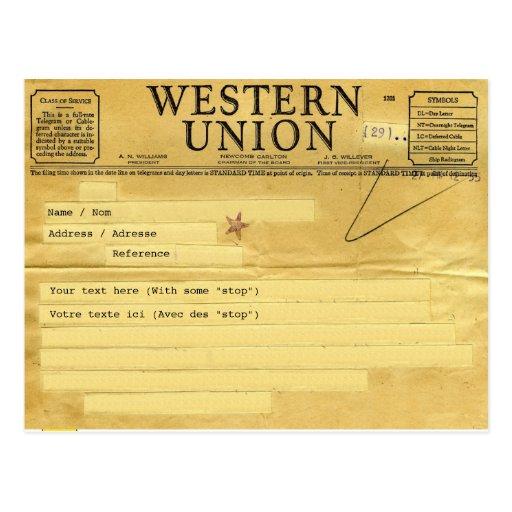 The telegram/the telegram post cards