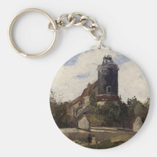The Telegraph Tower at Montmartre Camille Pissarro Keychain