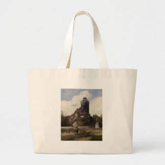 The Telegraph Tower at Montmartre Camille Pissarro Large Tote Bag