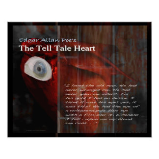 The Tell Tale Heart text Poster